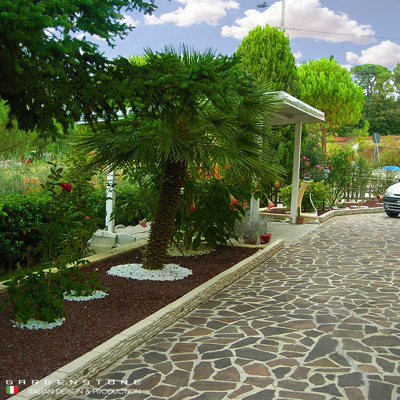 Bordure per aiuole per contenere piante e palme