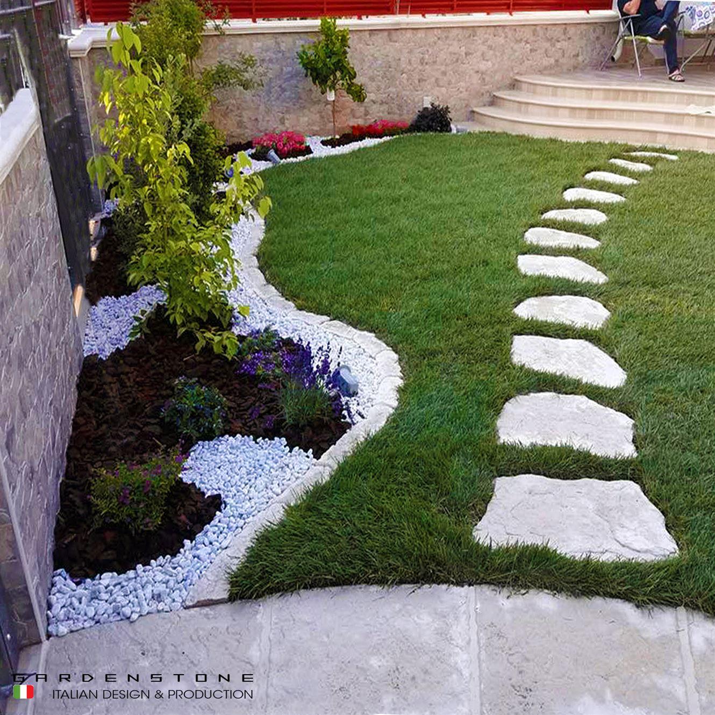 Camminamento da giardino in beole distanziate
