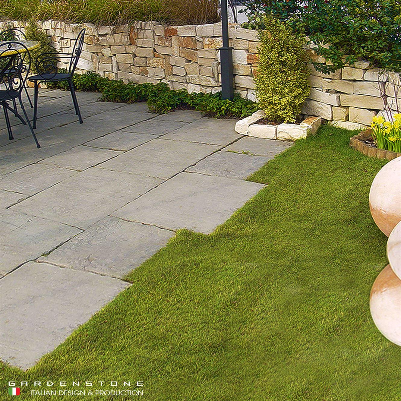 Pavimento regolare in finta pietra per esterno