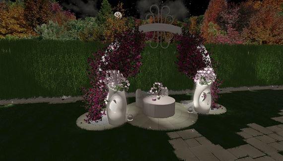 allestimento matrimonio giardino