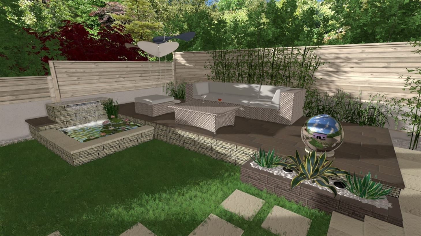 progetto giardino di giorno