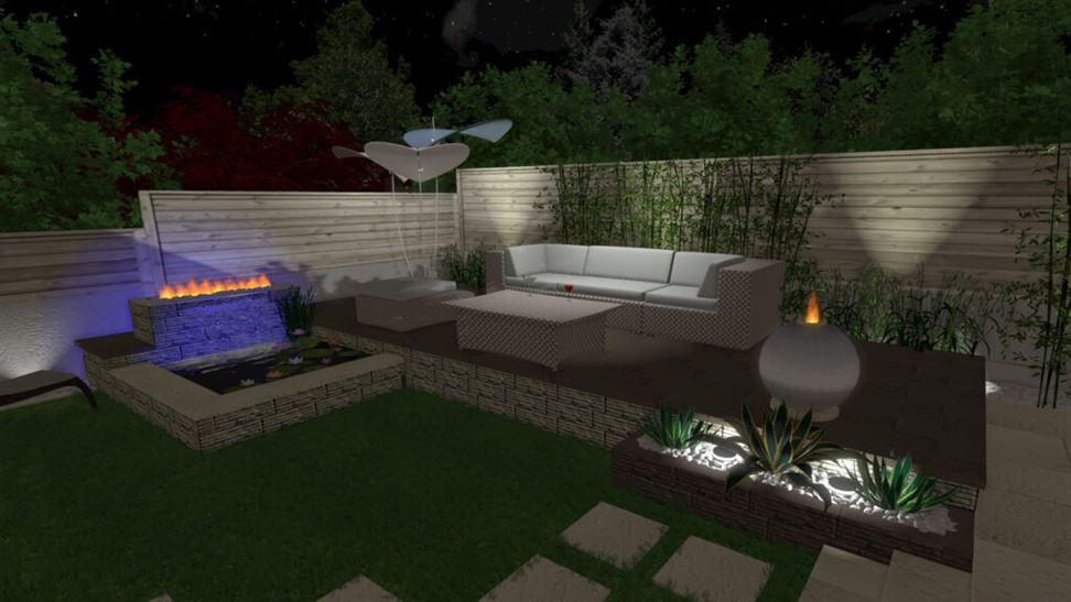 progetto giardino di notte