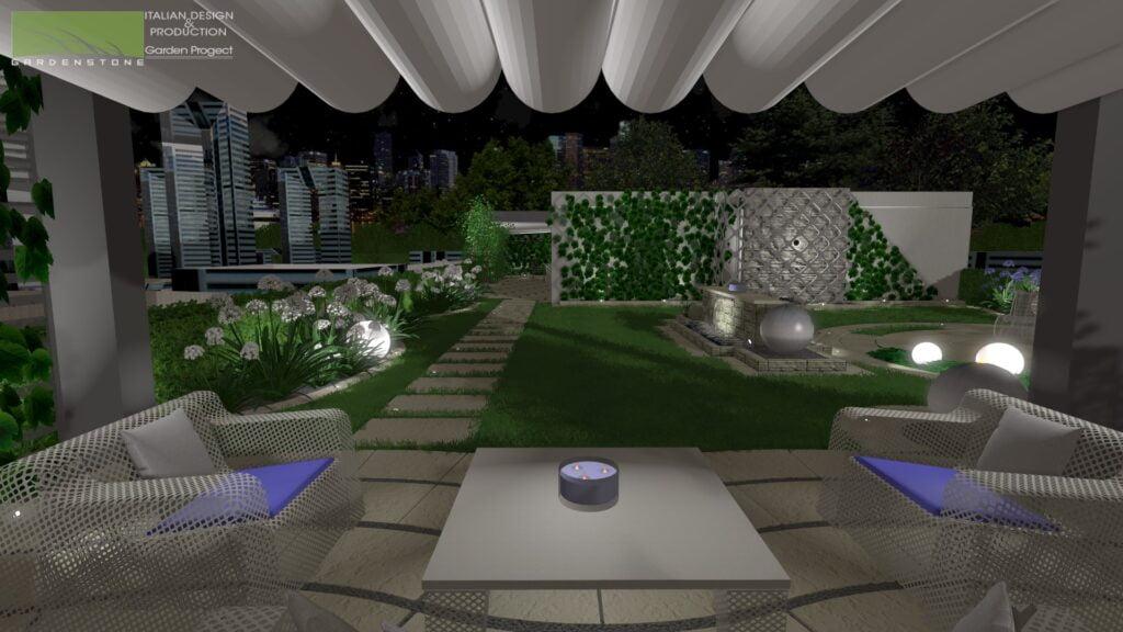 giardino pensile terrazzo