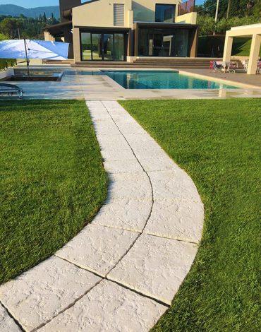 Spicchi: utilizzati per realizzare pavimenti, camminamenti, bordure, gradini e sedute